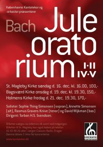 Bach Juleoratorium med Københavns Kantatekor 2012