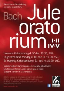 Bach Juleoratorium med Københavns Kantatekor 2014