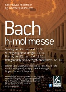 Bach h-mol messe med Københavns Kantatekor 2015