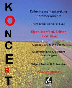 Sommerkoncert med Københavns Kantatekor 2014