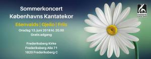 Sommerkoncert med Københavns Kanrtatekor 2018
