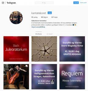 Kantatekoret Instagram