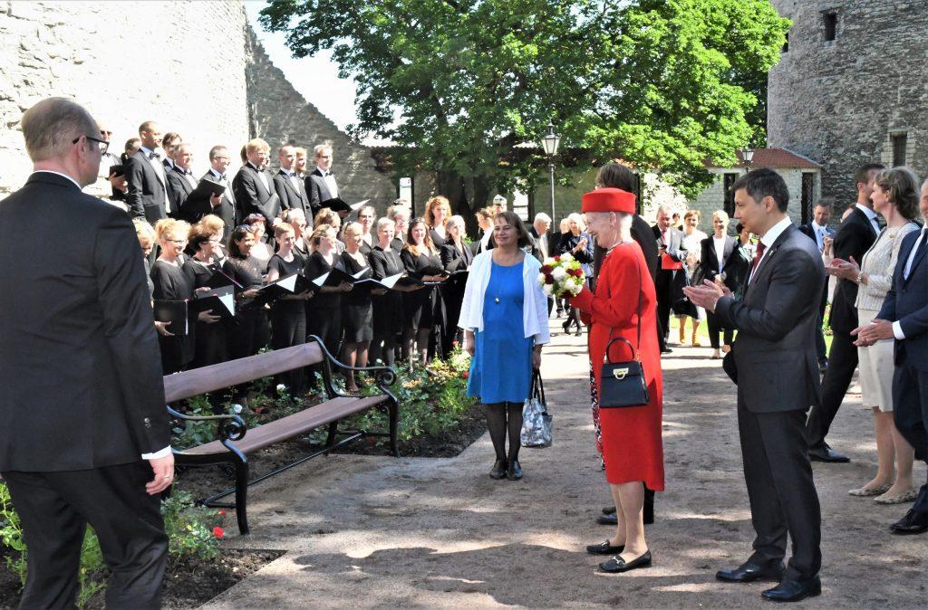 Københavns Kantatekor synger for Dronning Margrethe Dannebrog 800