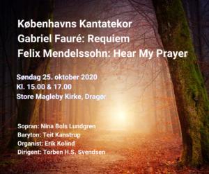 Fauré og Mehdelssohn med Københavns Kantatekor